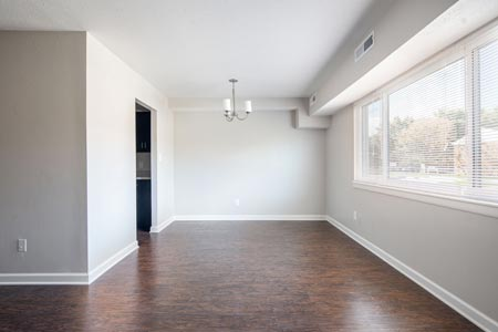 living room area with window